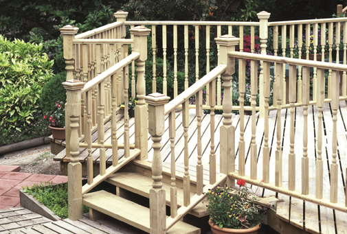 outdoor wood railings