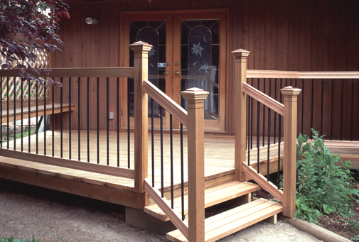 wood deck railing components
