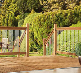 Clearview deck railing kit