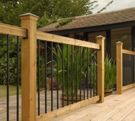Traditional deck railing kit