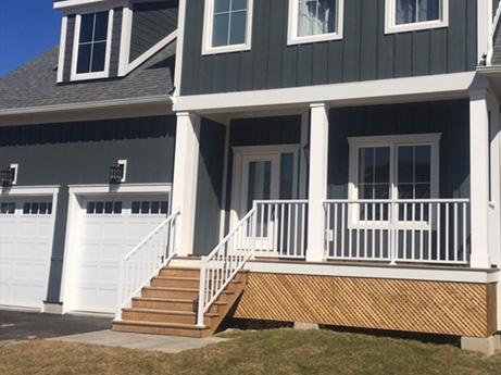 Wide picket deck railing image