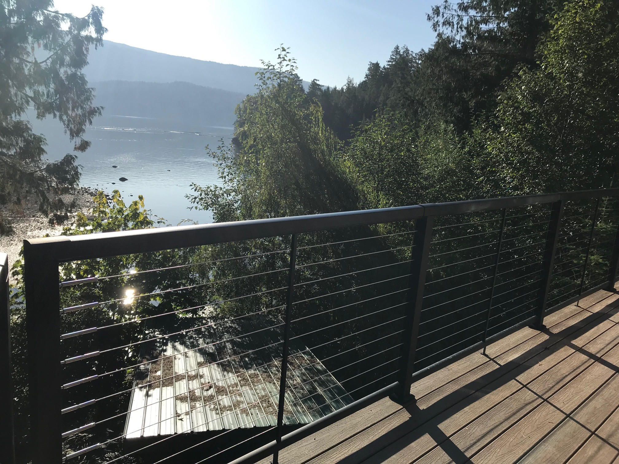 Vista Aluminum Cable Railing, Sechelt, BC August 2019
